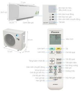 Daikin Inverter 1.5 HP ATKC35UAVMV