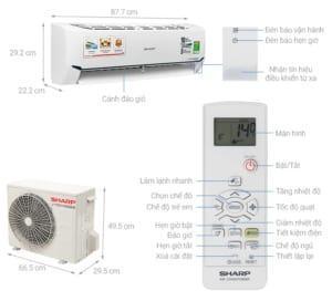 Đánh giá Máy lạnh Sharp Inverter 1 HP AH-X9XEW