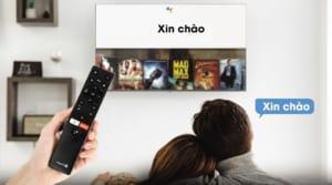 Điều khiển giọng nói bằng tiếng Việt thông qua trợ lý ảo thông minh cùng remote tiện lợi