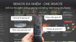 Samsung 4K QA55Q70T - điều khiển đa nhiệm, hỗ trợ tìm kiếm giọng nói