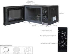 Lò vi sóng kết hợp chức năng nướng để bàn 23L - Electrolux