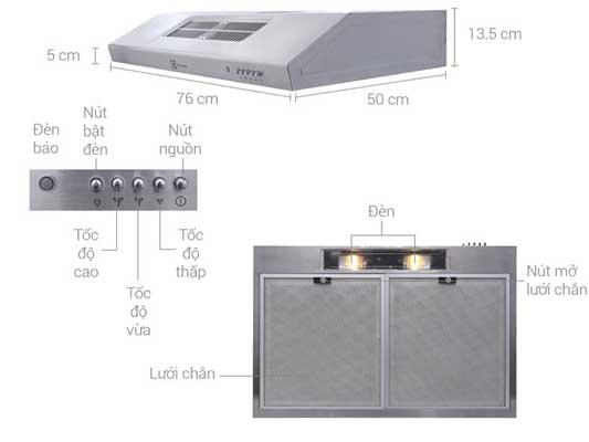 Máy hút mùi Electrolux có tốt không Nên mua loại nào