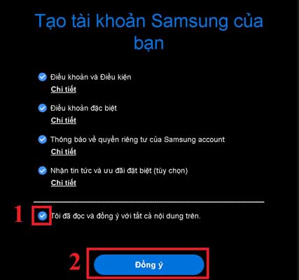 Tài khoản Samsung Account