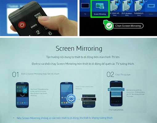 Hướng dẫn 3 cách chiếu màn hình điện thoại lên tivi Samsung