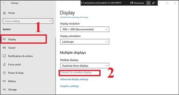 Hướng dẫn chi tiết cách chiếu màn hình laptop lên tivi bằng Wifi Display