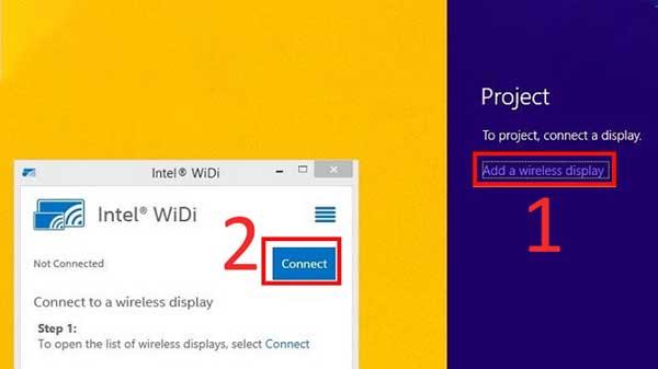 Cách chiếu màn hình laptop lên tivi bằng Wifi Display